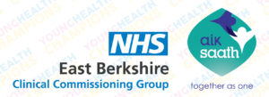 East Berkshire CCG and Aik Saath logos